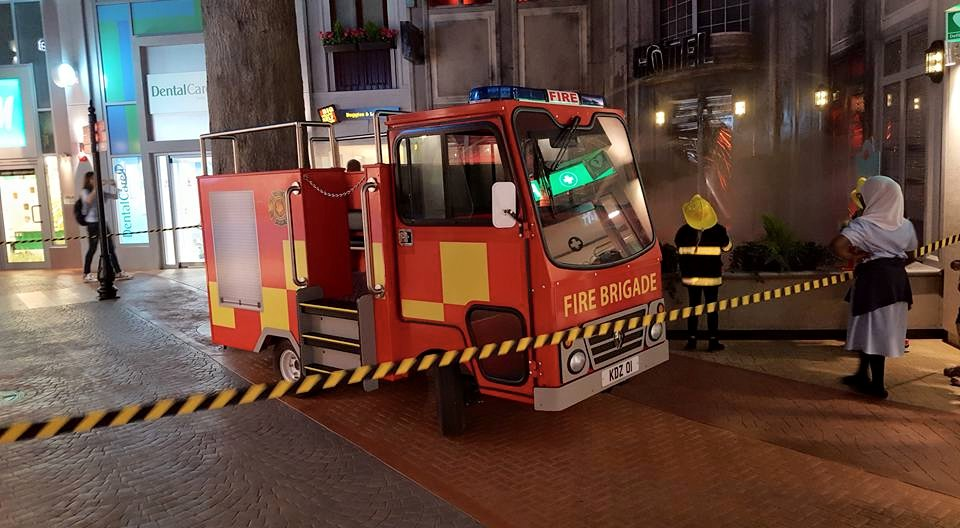Kidzania Fire and Rescue.  Photo credit © L Rowe 2015