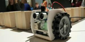 Code Builder Workshop - robot & maze.  Photo credit © L Rowe 2014