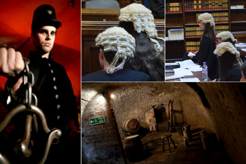 Galleries of Justice, City of Caves and Mock Trial. Photo credit © (left & bottom right) Egalitarian Trust & (top middle & top right) L Rowe 2016