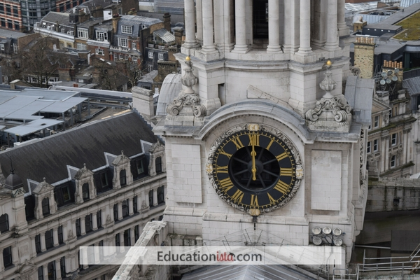 St Paul's Cathedral clock. Photo credit © L Rowe 2016