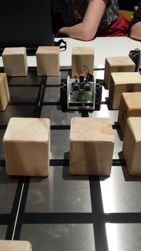 Code Builder Workshop - maze.  Photo credit © L Rowe 2014