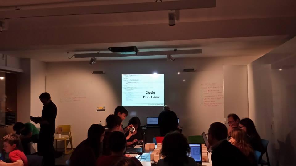 Code Builder Workshop - presentation.  Photo credit © L Rowe 2014