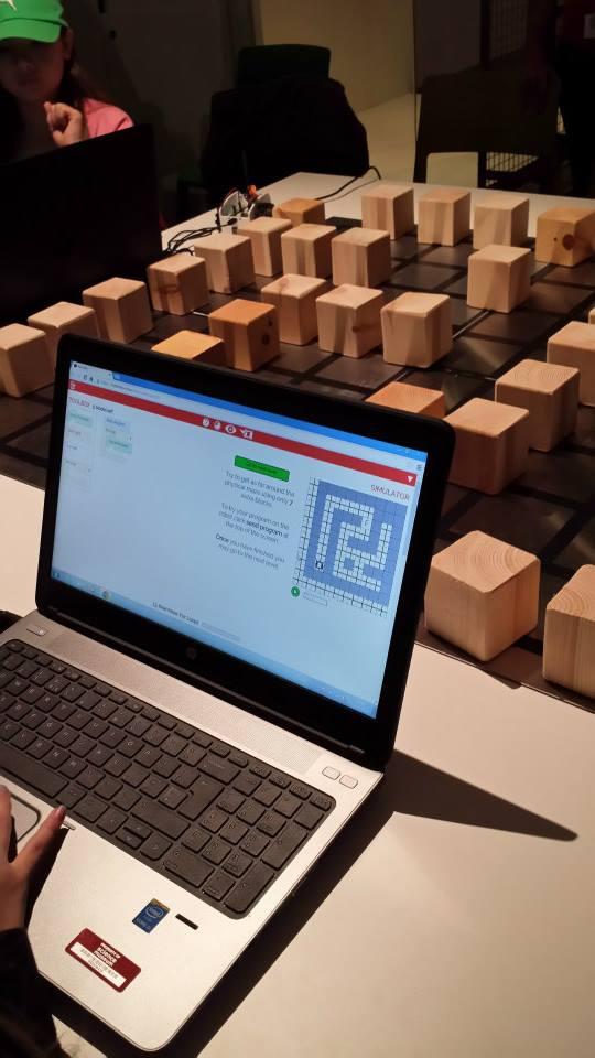 Code Builder Workshop - hands-on.  Photo credit © L Rowe 2014