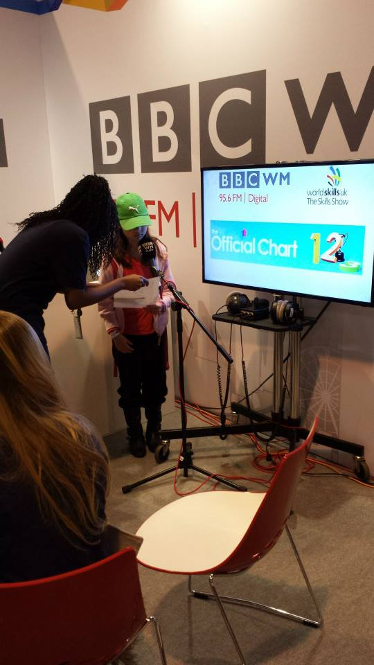 UK Skills Show 2014 - BBC radio presenting.  Photo credit © L Rowe 2014