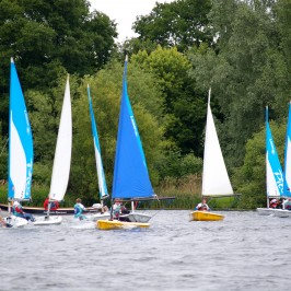 Mixed Adventure for younger juniors with sailing, canoeing, climbing, archery, caving and bush-craft