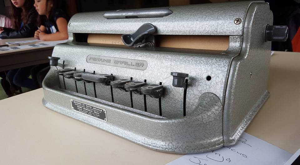 Guide Dogs Braille machine. Photo credit © L Rowe 2015